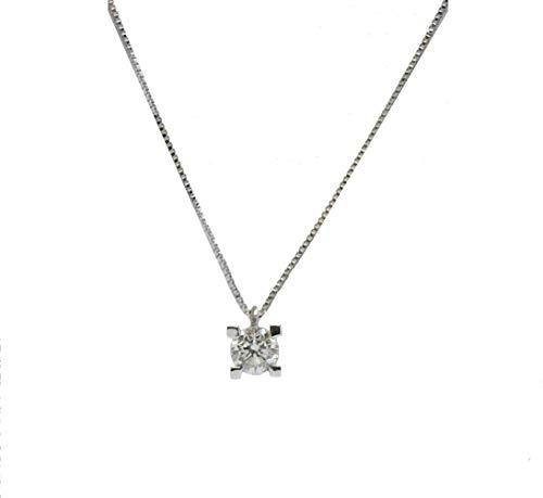 Desing & Gold Gargantilla Oro Blanco con Diamante