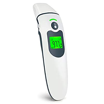 Infrared Thermometer for Adults Thermometer No Touch Forehead Ear Thermometer Baby Thermometer for Fever Alarm Digital Thermometer for Babies, Children, Adults