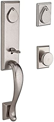 Baldwin Sclonxtaprrsr492 Reserve Single Cylinder Handleset Longview X Taper With Rustic Square Rose In White Bronze Finish Right Hand