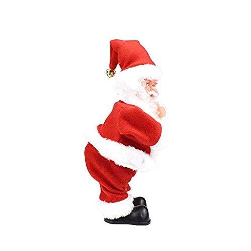 GHJU Weihnachtsmann - Twisted Hüfte, Singen und Tanzen Elektrisches Spielzeug, Verdreht Hip Weihnachtsmann Figur Weihnachten Weihnachtsmann Weihnachten for Kinder Qingqiao