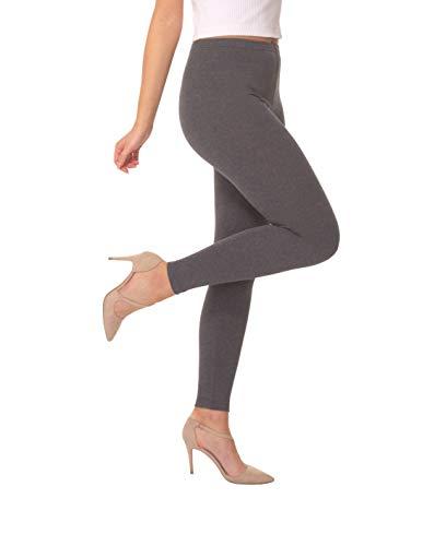 BeComfy Leggings Dames Lange Katoen Beenkappen Casual Ondoorzichtig Pantalon Beige Wit Zwart Rood Roze 36 38 40 42 44 46 48 50 52 54 56