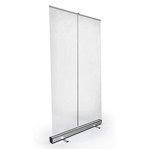 RuBao Pannello Plexiglass Trasparente Barriera Protettiva Parasputi,Divisorio in plastica Pop-up,Schermo in plastica per distanziamento Sociale in PVC, per Ufficio, Ristorante, Aula, Palestra, Salone