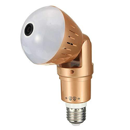 Luz de Seguridad con luz de Flash de cámara HD Led WiFi Cámara Oculta Cámaras de Bombilla de luz Nocturna 360 IP Estenopeico Baby Nanny CAM Inalámbrico