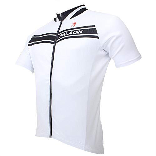 yyqx container Fietspak Jassen Zomer Team Fietskleding Pak Met rits Jersey Zwart-wit shirt met korte mouwen, fietspak, zomerkleding, heren korte mouwen wit