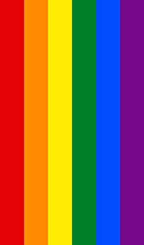 Dhestia Home Dhestia, Toalla De Playa Grande Lgtb De Algodón 100X170 Cm, Rainbow-Arcoiris, Multicolor, 100 X 170 Cm