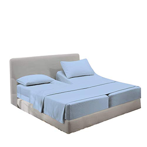 Schlafnummer-Set, 5-teilig Split King Sheets Hellblau