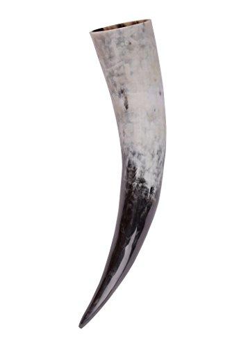 Battle-Merchant Corne à Boire médiévale/Corne à Hydromel Viking en Corne véritable, de 0,1 à 1,0 L, Propre à l'usage Alimentaire, Moyen Âge, GN Size 250 ML