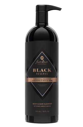 Jack Black Black Reserve Body & Hair Cleanser with Cardamom & Cedarwood 1
