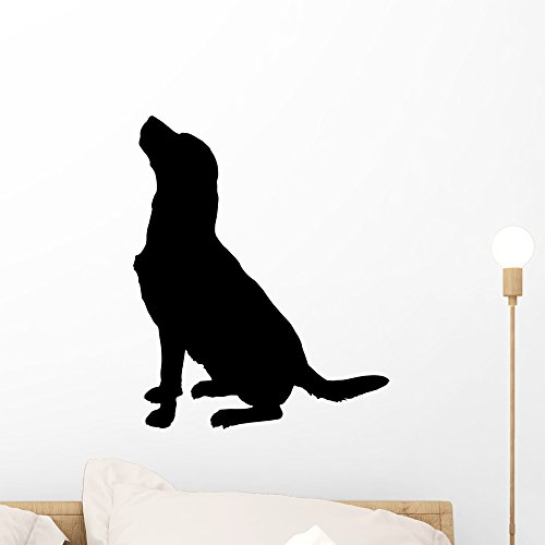 Wallmonkeys Vector Silhouette Dog Wall Decal Peel and Stick Vinyl Graphic (18 in H x 18 in W) WM368755