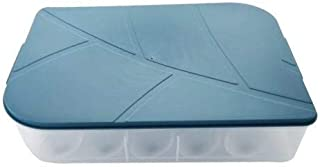 Boîte de rangement pour réfrigérateur - Boîte de rangement pour œufs - Récipient pour cuisine - Distributeur d'œufs en pla...