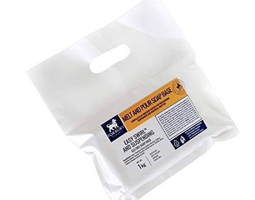 1kg Suspensión de base de jabón para derretir y verter, no contiene SLS. Easy Swirl & Suspending Soap Base