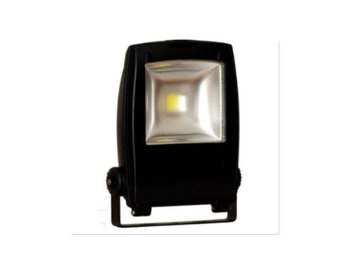 PROYECTOR LED COB 50 W = ESTRUCTURA EXTERIOR DE 250 W DE COLOR NEGRO CON LUZ NATURAL 4000 K BLANCO 4000 LÚMENES, IP65