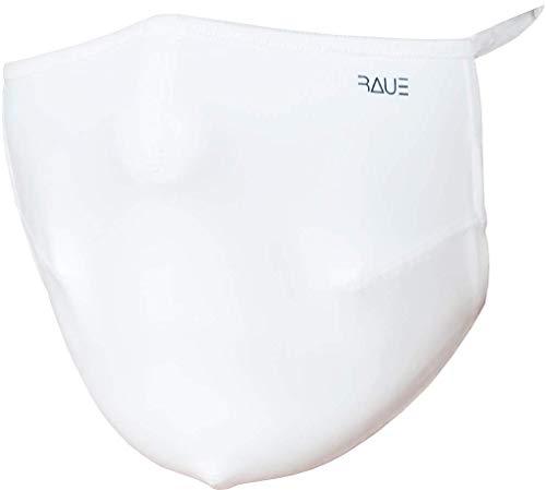 Mascara Respiratória Cirúrgica - Lavável/Reutilizável - infantil/adulto - Marca Raue (G, Branco Liso)