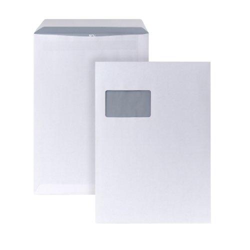 POSTHORN Versandtasche C4 (324x229mm) selbstklebend mit Fenster weiß 90g 250 Stück