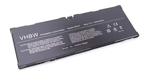 vhbw Li-Polymer Batterie 4300mAh (7.4V) pour Netbook Pad Tablette Dell Venue 11 Pro 5130, T06G comme 9MGCD, XMFY3, 312-1453, VYP88, 0XMFY3, T8NH4