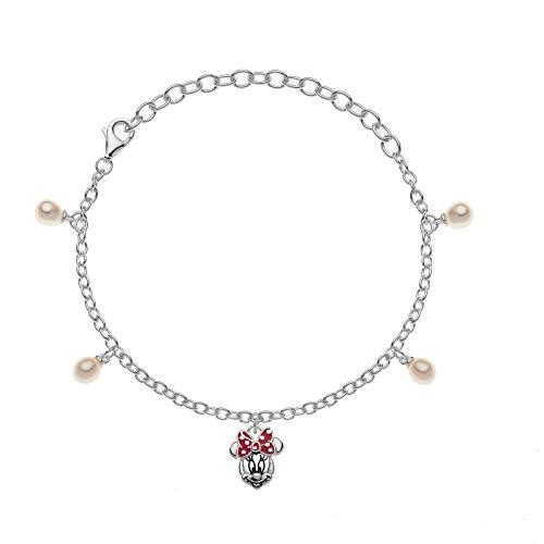 Disney Mickey Mouse Minnie Silver Bracelet BS00001SMAL-5