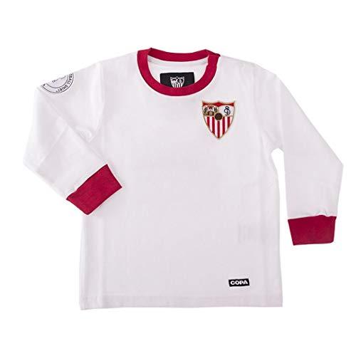 copa FC Sevilla My First Football Shirt Retro Trikot Kleinkinder weiß-rot weiß-rot, 74