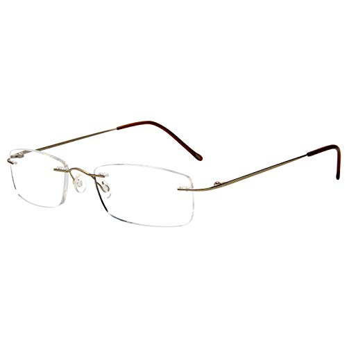 Gafas de lectura LianSan de titanio sin montura para hombres