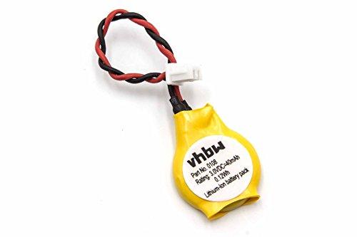 vhbw Batterie kompatibel mit Asus Eee PC 1005H, 1005HA, 1005HA-A, 1005HAB, 1005HA-BLK140X Computer Notebook (40mAh, 3V, Li-Ion)