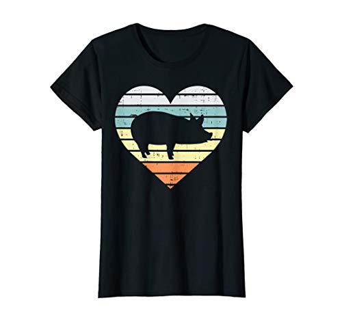 Pig Heart Retro Farm Animal Farming Life Country Farmer Gift T-Shirt