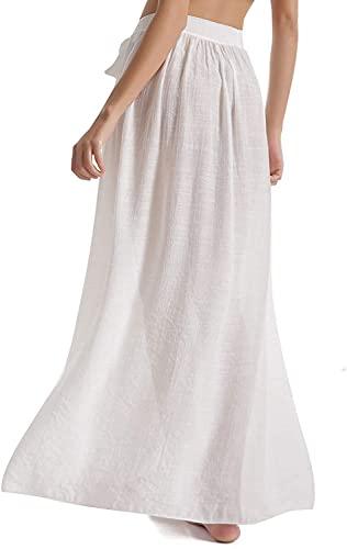 Falda Larga para Mujer la Cintura Alta de Split Maxi de la Faldas Verano Elegantes Un Tamaño