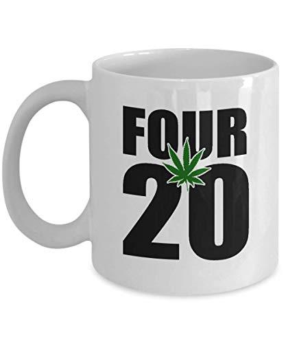 Ceramic Coffee Mug,420 Marijuana Pot Weed Cannabis Tea Cup Printed On Both Sides