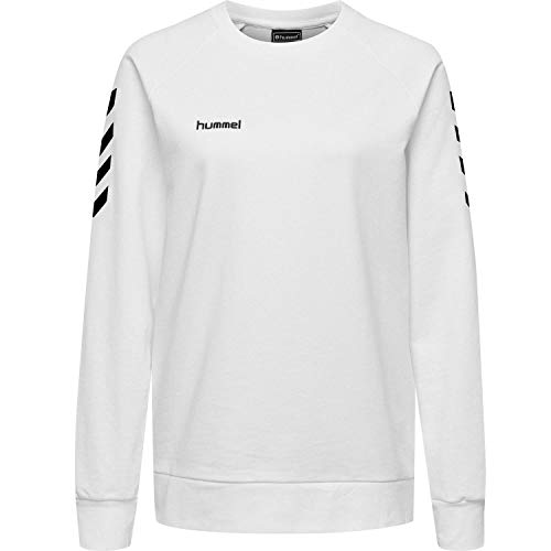 Hummel Damen Pullover Go Cotton Sweatshirt Woman 203507 White M