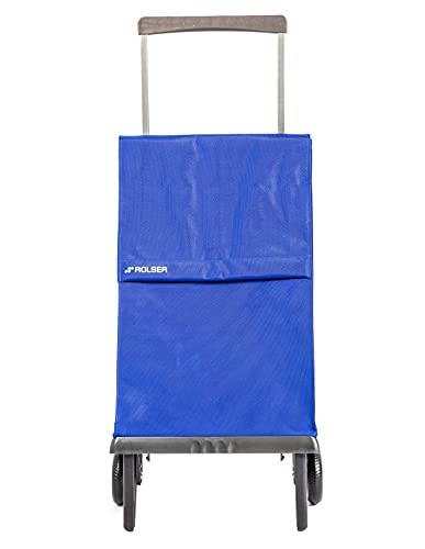 Shopping Trolley Rolser Plegamatic MF 2 Wheels Foldable - Blue