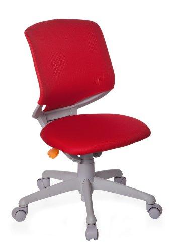 hjh OFFICE 712010 Kinder-Schreibtischstuhl Kid Move Grey Netzstoff Rot/Grau Drehstuhl ergonomisch, Rückenlehne verstellbar