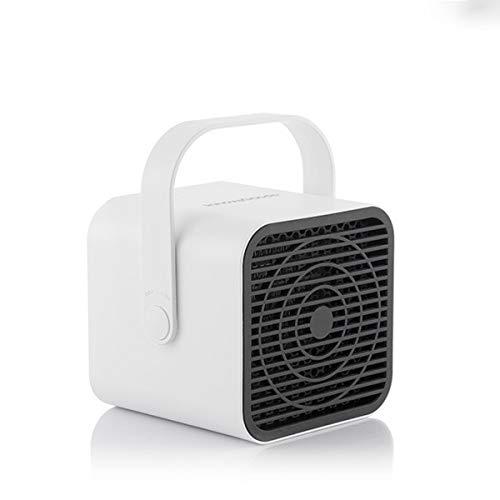MODEZVOUS - Chauffage Soufflant Electrique Portable, Radiateur de Bureau Portatif, Protection contre Surchauffe, Cube Maison, Bureau, Table et Sol - 500W - Blanc
