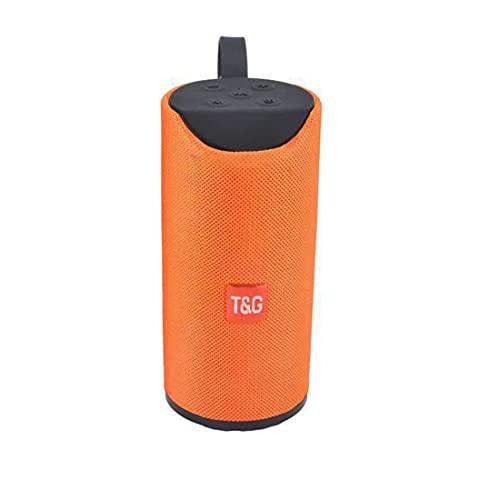 XJST Altavoz Bluetooth, Altavoz Portátil Bluetooth, Volumen Más Fuerte, Sonido Estéreo Claro De Cristal, para El Hogar Y La Fiesta,Naranja