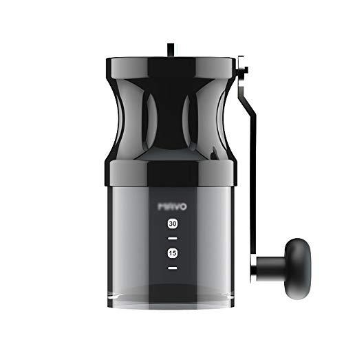Molinillo manual, molinillo doméstico de manivela, cafetera portátil con lavado de cuerpo completo, máquina de preparación de café con grosor ajustable, molinillo de concentración con brazo extendid
