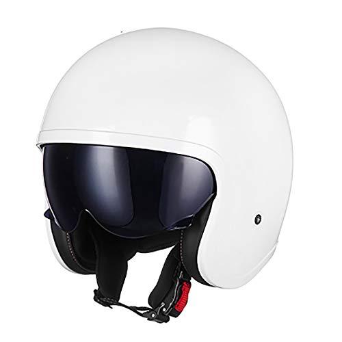 Casco retro de motocicleta DOT/ECE medio casco cubierto verano lente interior medio casco Cara abierta Casco de motocicleta chopper motocicleta scooter Seguridad hombres y mujeres B,4XL=63CM
