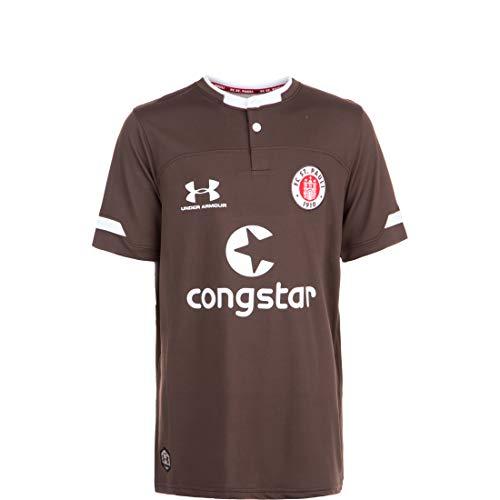 Under Armour FC St. Pauli Trikot Home 2019/2020 Kinder braun/weiß, YLG