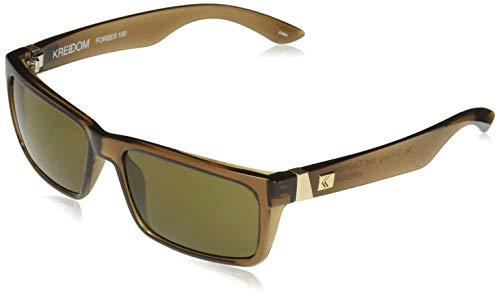 KREEDOM SKFFAFORGLB Forbes 100 Sunglasses, One Size, Gloss Crystal Brown