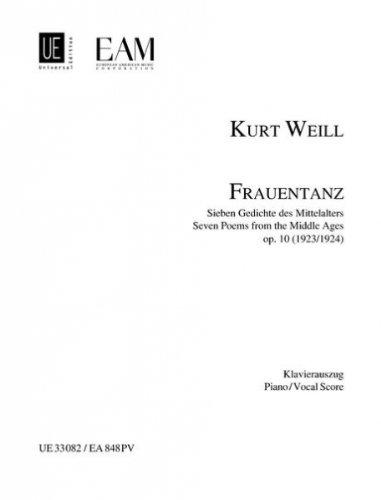 Frauentanz, Opus 10 - Sieben Gedichte des Mittelalters für Sopran, Flöte, Viola, Klarinette, Horn, Fagott