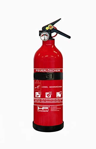 HP-Autozubehör 10151 Auto Feuerlöscher ABC 1kg Pulverlöscher nach DIN EN 3