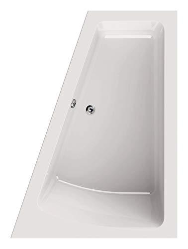 Calmwaters® Raumsparende Eckbadewanne 170x125 cm, Acrylwanne Modern Plus, Duo-Badewanne für 2 Personen, platzsparende Badewanne, linke Ausführung, Maße 170 x 125 cm, Eck-Badewanne Weiß, 02SL3330