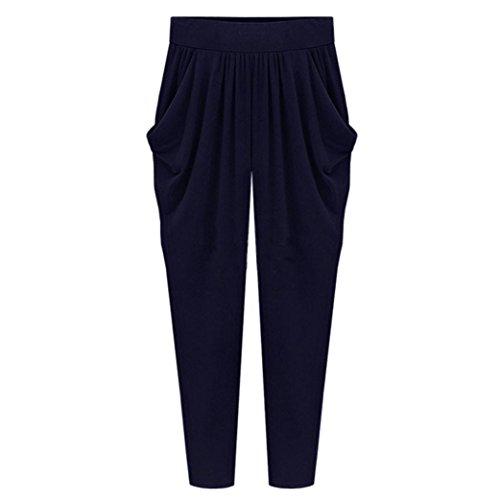 SHOBDW Pantalones de Mujers Tallas Grandes, Anchos con lanur