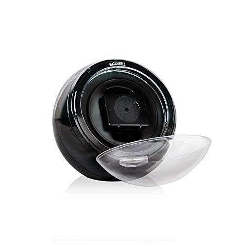 Watchwell® Uhrenbeweger Globe V1 Schwarz für 1 Automatikuhr