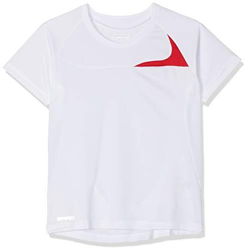 adidas Camiseta de Entrenamiento para Mujer Spiro Blanco (White/Red 057). M