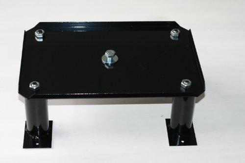 SafePost Stativ 300 A Paketbriefkasten-Ständer schwarz (RAL 9005) Standfuß zum Aufschrauben, Freistellung, Briefkastensäule, Briefkasten freistehend