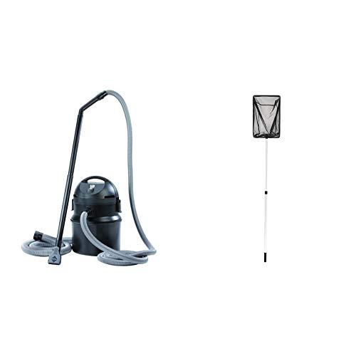 Pontec PondoMatic Teichschlamm Sauger 1400 W 3000 l/h - Sauger Säuberung für Gartenteich Schwimmteich Fischteich Pool & OASE Algenkescher groß | Kescher | Teichzubehör | Zubehör | Teichkescher