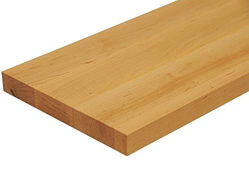 Wandbord Wandboard Design Livingboard Regal massiv Holz - Verschiedene Holzarten wählbar - Tiefe:13cm Dicke:25mm (Erle, 60cm)