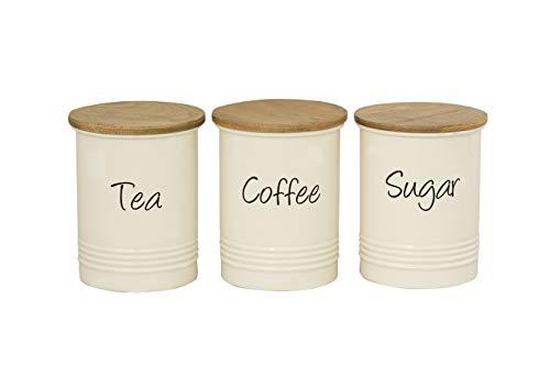 EHC Set of 3 Tea, Coffee and Sug...