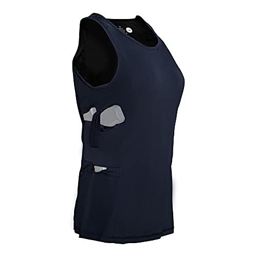 Graystone Holster Tank Top Shirt Concealed Carry Clothing for Women - Easy Reach Concealment Compression CCW Clothes (Large, Black)