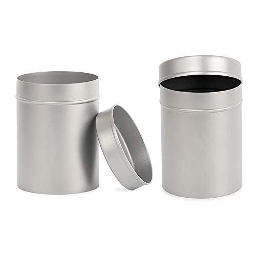 N / A Aufbewahrungsbehälter aus reinem Titan, für Tee, Kaffee, Bohnen, Zigaretten, Süßigkeiten, 2 Stück