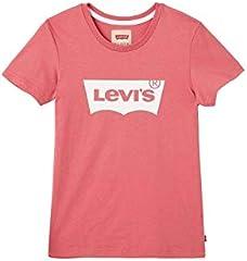 Camiseta Levi's Batee Color Rosa de Manga Corta para Niña