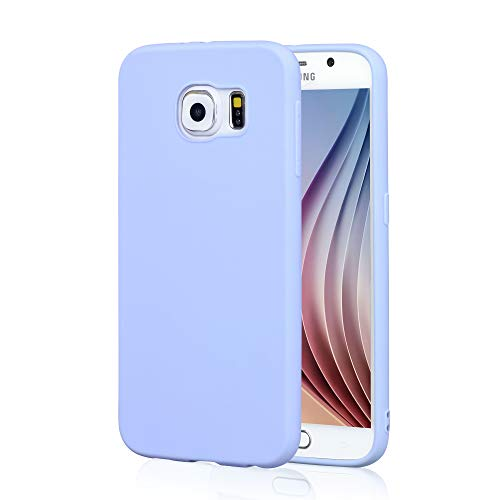 Galaxy S6 Lavender Case, technext020 Galaxy S6 Case Silicone Protective Back Cover Slim Fit Samsung Galaxy S6 Bumper