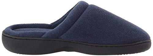 ISOTONER de la Mujer Classic Terry Clog Slip On Zapatillas, Color Azul, Talla Small / 6.5-7 B(M) US